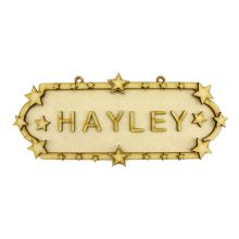 MDF Wood DIY Craft Shapes Room Door Wall YOUR NAME Sign Plaque – Stars